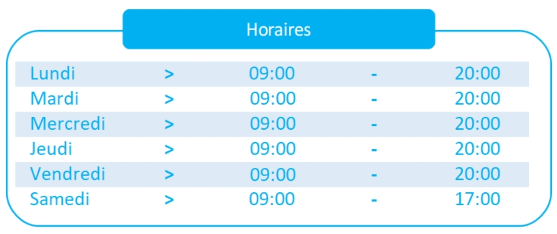 Horaires/Tarifs